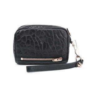 Alexander Wang Black Fumo Wristlet Wallet Clutch